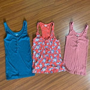 Old Navy and Aerie XS tanks
